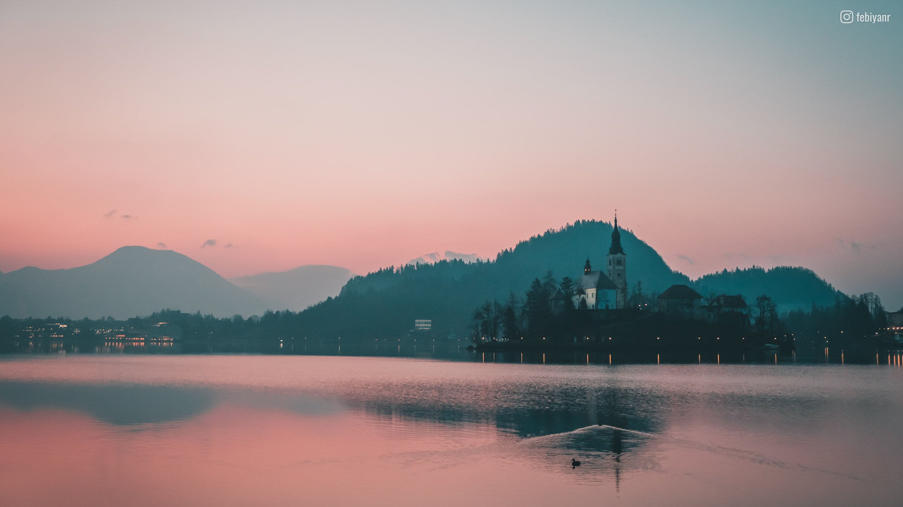 Sunrise in Bled
